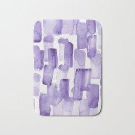 Purple Watercolour Patterns | 190129 Abstract Art Watercolour Bath Mat