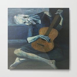 Pablo Picasso's The Old Guitarist Metal Print