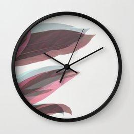 Ghost Leaves Wall Clock