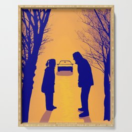Fox Mulder and Dana Scully We lost 9 minutes Serving Tray