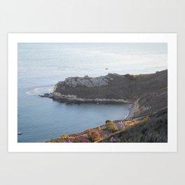 Pismo Beach Pirate's Cove view from Avila Ridge Hike Art Print
