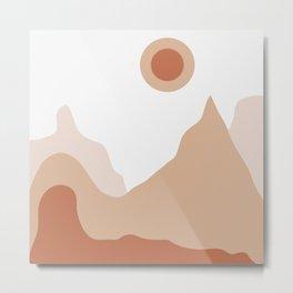Landscape Sunset view Metal Print