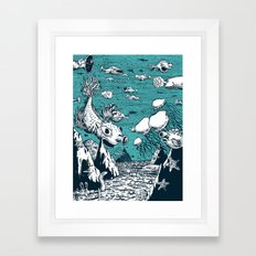 Under Water Wonderland Framed Art Print