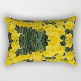 SPRING YELLOW DAFFODILS GARDEN DESIGN Rectangular Pillow