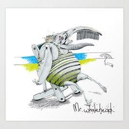 Mr Whalehead Art Print
