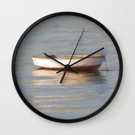 La Barque Au Crepuscule Wall Clock