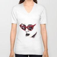 lolita V-neck T-shirts featuring Lolita  by Bella Harris