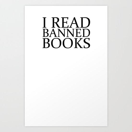 Banned Books Art Print