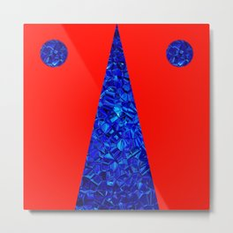 Red with blue polycon Metal Print