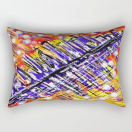Fireworks At 45 Degrees Rectangular Pillow