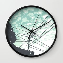 Junction City Linocut Wall Clock