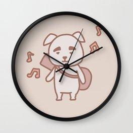 Dog K.K. | Animal Villager | illustration Wall Clock