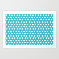 Happy Dot Aqua Art Print