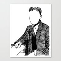 fitzgerald Canvas Prints featuring F. Scott Fitzgerald by AlphaVariable