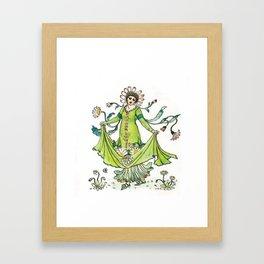 Vintage Daisy Lady Goddess Framed Art Print