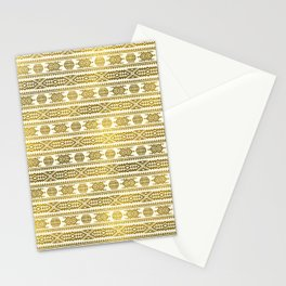 Gold  Aztec Peruvian Tribal Pattern Stationery Cards