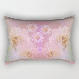 Painterly pastel flowers Rectangular Pillow