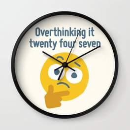 Leave Dwell Enough Alone Wall Clock
