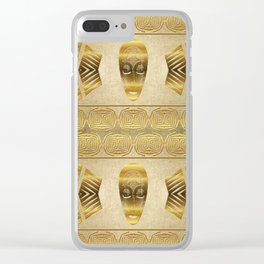 Ethnic african golden pattern. Clear iPhone Case