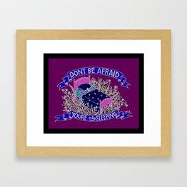Afraid Framed Art Print