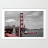 Classic Golden Gate Bridge, San Francisco Art Print