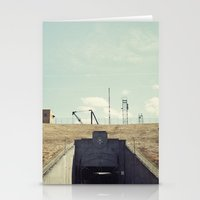 dwight Stationery Cards featuring the dwight d eisenhower lock by Amanda Stockwell