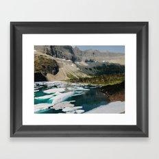 Iceberg Lake, Glacier National Park Framed Art Print