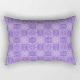 Purple Geometric Floral Rectangular Pillow