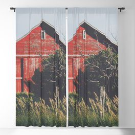 Country Red Blackout Curtain