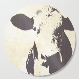 Rustic Cow Cutting Board