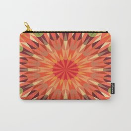 Peach Retro Geometry Earth Tones Carry-All Pouch