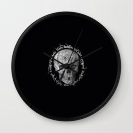 Rubino Metal Skull Wall Clock
