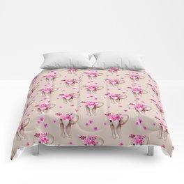 Romantic bohemian watercolor elephant design Comforters