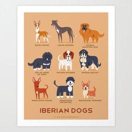 IBERIAN DOGS Art Print