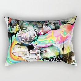 Ink Fight Colors Rectangular Pillow
