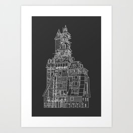 Crooked House Art Print