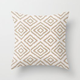 Sumatra in Tan Throw Pillow