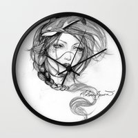orca Wall Clocks featuring Orca by Mortimer Sparrow