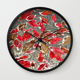 Softly Falling Wall Clock