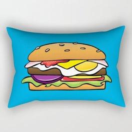Aussie Burger on Blue Rectangular Pillow