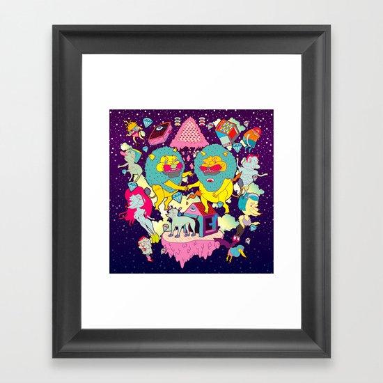 celebración Framed Art Print