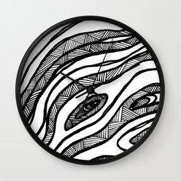Organic Black & White lines Wall Clock