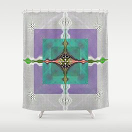 Sacred Healing Resonant Mandala Shower Curtain