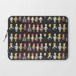 Bowie pixel characters Laptop Sleeve
