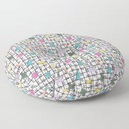 Postmodern Grid Confetti Floor Pillow