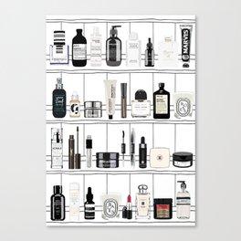 The Black & White shelf Canvas Print