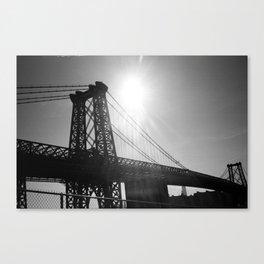 the shadow of the bridge Canvas Print