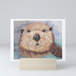 Surprised Otter Mini Art Print