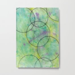 Green Spots Metal Print