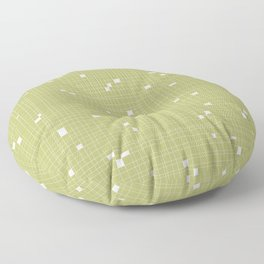 Light Green and White Grid - Missing Pieces Floor Pillow
